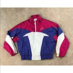 NEW Vtg 80s Adidas Trefoil Womens Batwing Jacket M